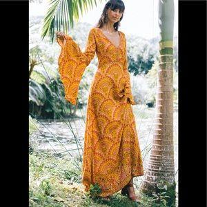 Nine Lives Bazaar Wanderlust Maxi Dress in Sun S